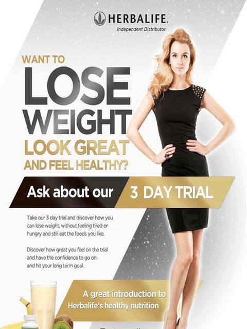 Herbalife's 3 day trial