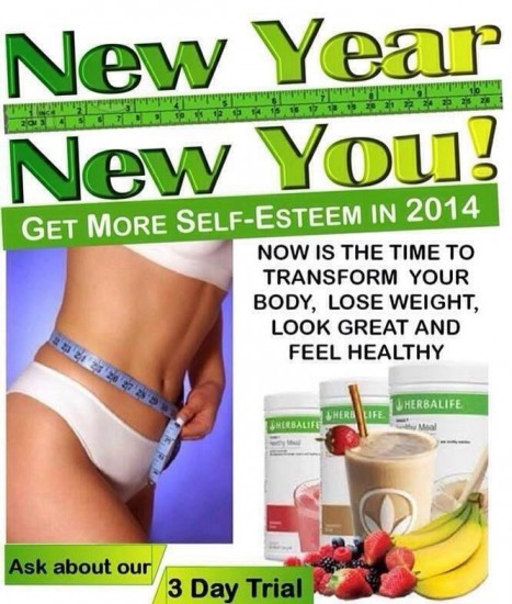Get results in 2014 with the Herbalife 3 day trial